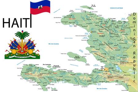 Haiti map.