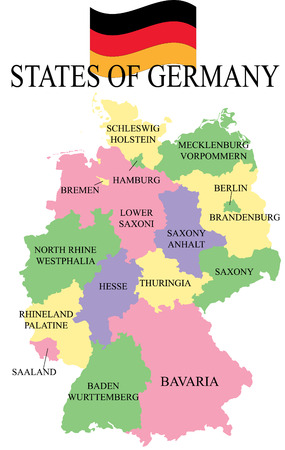 Germania Map with states.