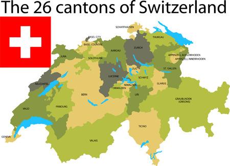 Cantons of Switzerland (illustrator 10)