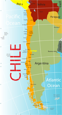 Chile map.