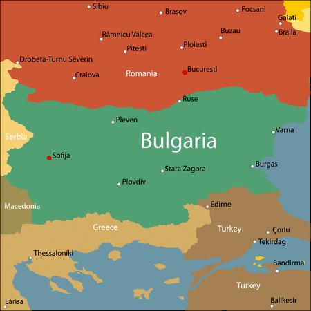 Bulgaria map.