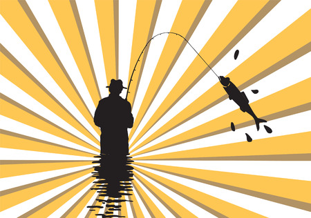 Fishing. Illusztráció