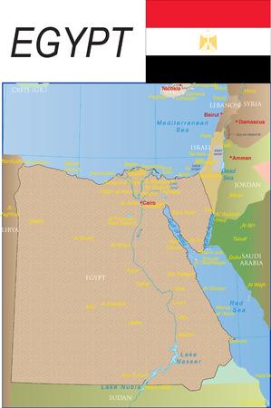 Kaart van Egypte.