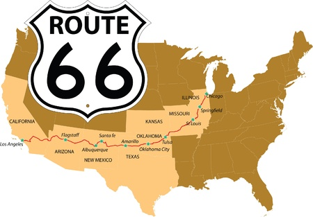 Route 66 版權商用圖片 - 9160173