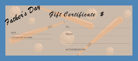 Gift certificate for fathers day.