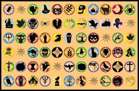 Halloween pictogrammen