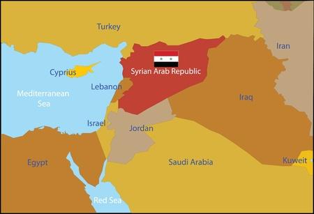 Syrian Arab Republic and neighbouring countries 版權商用圖片 - 12358881