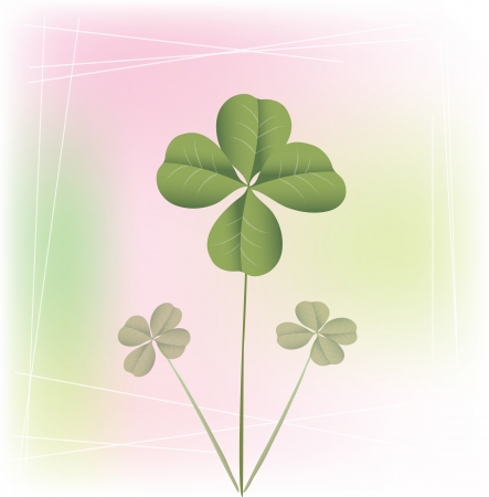 Green clover for happy St Patrick day