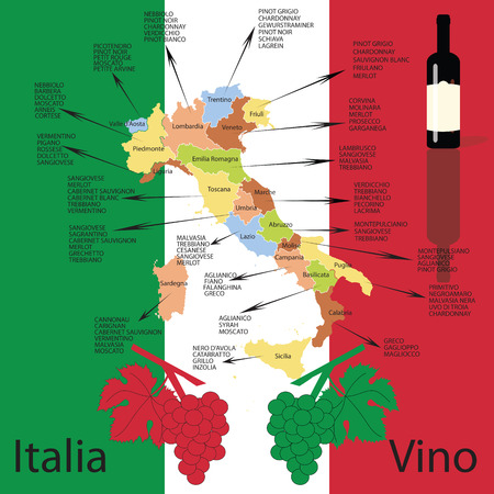 편집 가능한 이탈리아 와인지도
