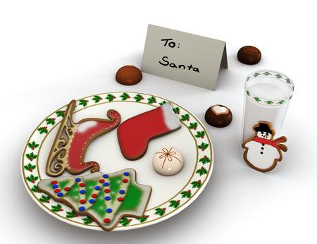 Dessert for Santa Claus  photo