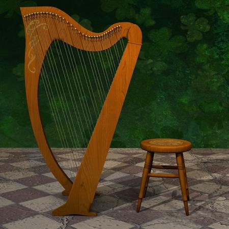 Celtic Harp for St Patrick Day.