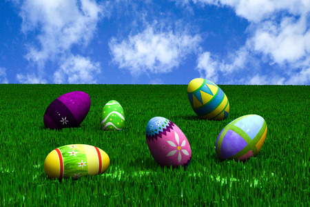 Easter in the meadow.