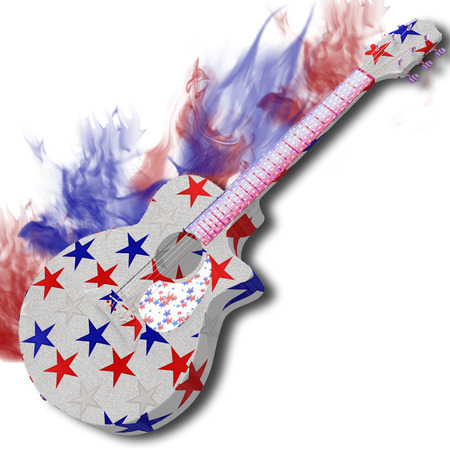 America guitar on white background