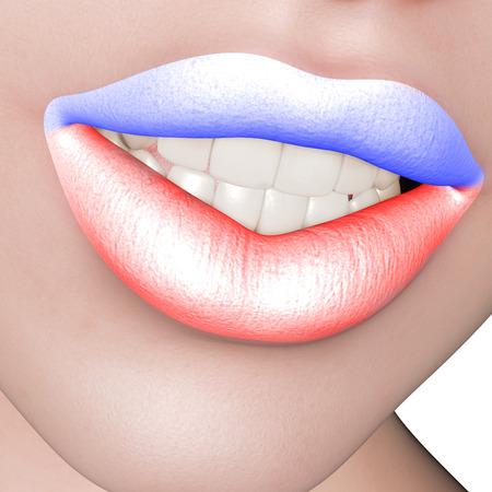 colored lips 版權商用圖片