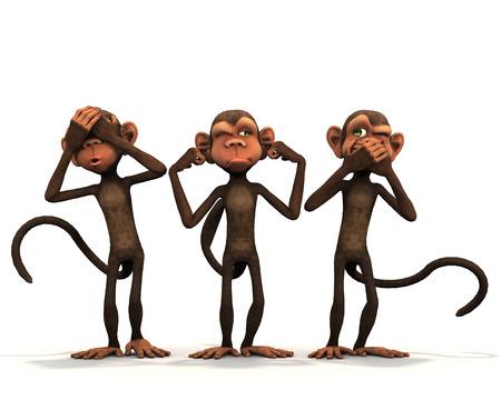 세명의 현명한 원숭이.