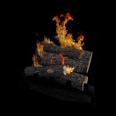 Camp fire. 版權商用圖片