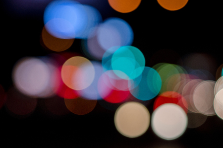 Abstract circular bokeh background Stock Photo