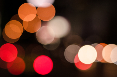Bokeh car lights background