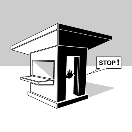 Guardhouse clip art vector illustration Illustration