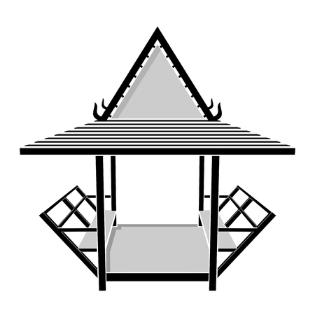 pavilion: Pavilion thai, gazebo, rest area vector illustration