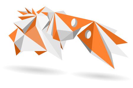 Abstract geometric, model 3d shape vector illustration Illustration