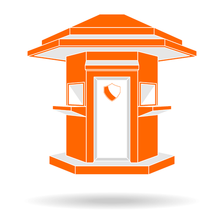 Guardhouse modern style front view vector illustration Illustration