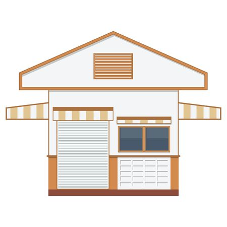 elevate: Warehouse transportation in flat style, isolated vector illustration