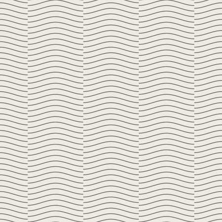 Seamless geometric pattern, wave line overlap on light brown background, stripes abstract template, vector illustration