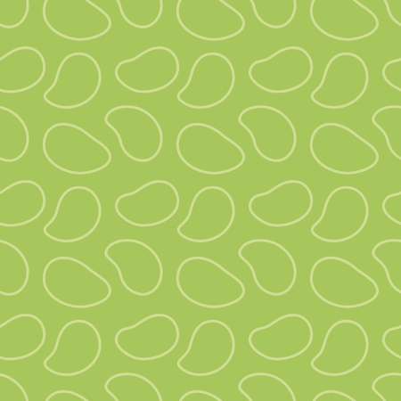 Seamless geometric pattern, outline of mango on  green background, stripes abstract template, vector illustration