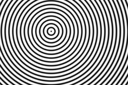 Abstract black rings sound oscillating on white background
