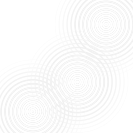Abstract gray rings sound oscillating on white background