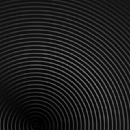 Abstract sound waves effect gray color on black background