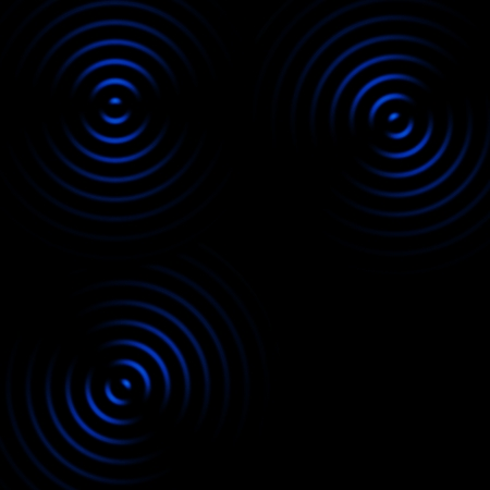 Abstract blue circle sound waves on black background Reklamní fotografie