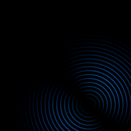 Abstract sound waves oscillating blue on black background