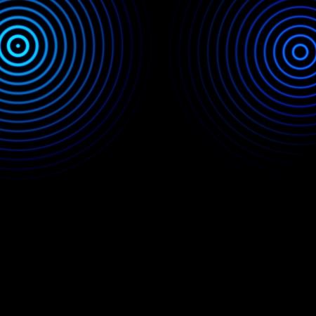 Abstract blue vortex spin on black background