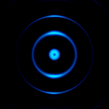 Camara aperture with blue eye effect, abstract background