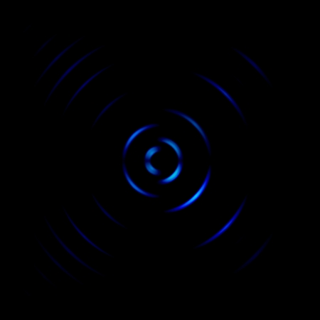 Abstract blue spin signal on black background Stock Photo