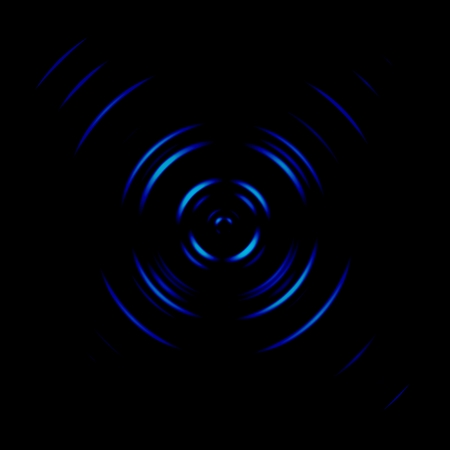 Blue galaxy spiral or circle signal, abstract background Banco de Imagens