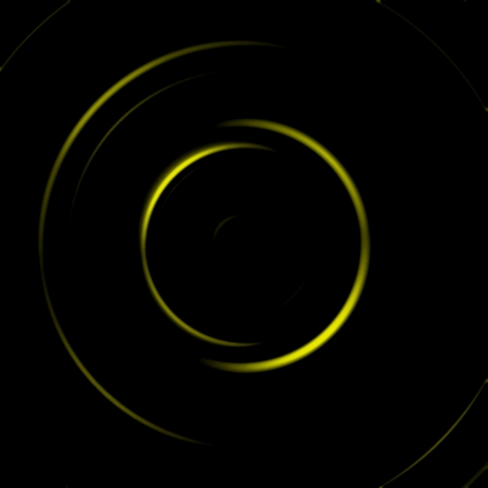 Yellow galaxy spiral with circle spin effect, abstract background