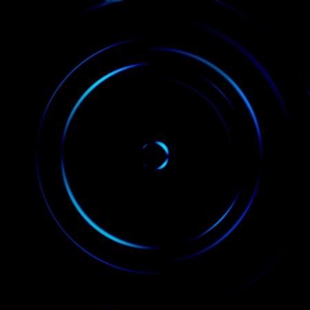 Blue galaxy spiral with circle signal, abstract background