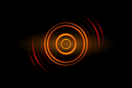 Abstract orange light circle effect background Imagens