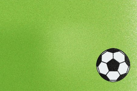 Green flannel or soccer ball fabric, abstract background Stock Photo