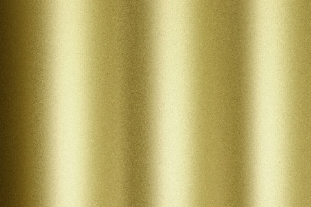 Reflection of wave corrugated gold material, texture background 免版税图像
