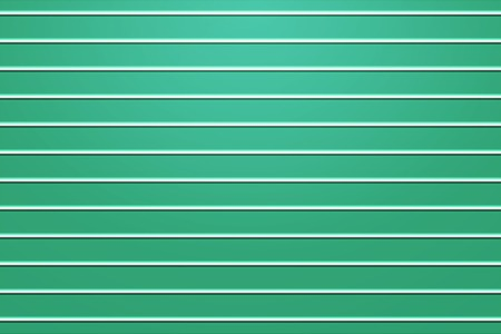3d rendering, white horizontal line structure on green panel wall surface, abstract background