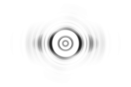 Abstract black and white circle effect with sound waves oscillating background
