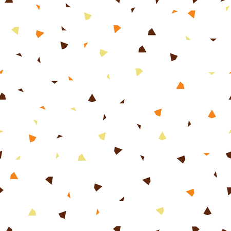 Seamless pattern, abstract falling brown paper isolated on white background, vector illustration
