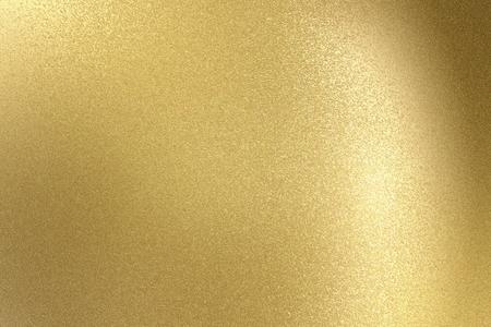 Glühende hellgoldene Edelstahlbeschaffenheit, abstrakter Musterhintergrund
