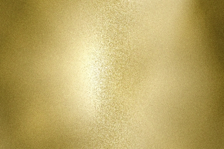 Glowing gold rough stainless steel wave texture, abstract pattern background