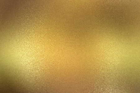 Abstract background, glowing bronze metallic plate texture