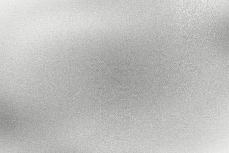 Abstracte textuurachtergrond, glanzende geborstelde zilveren staalmuur Stockfoto